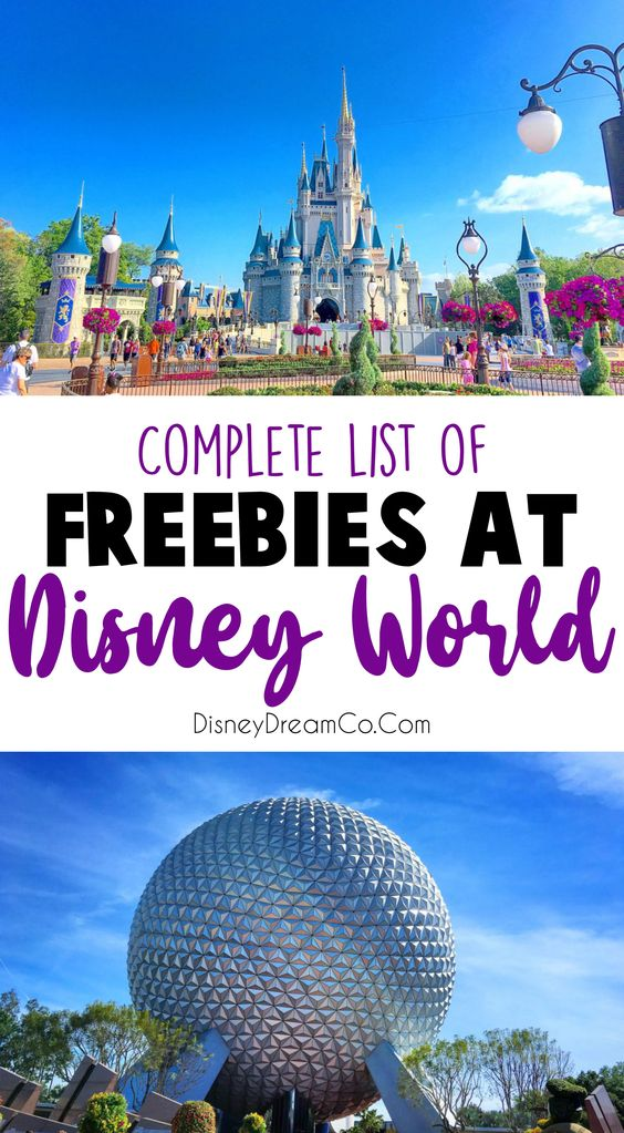 Free things at Disney World
