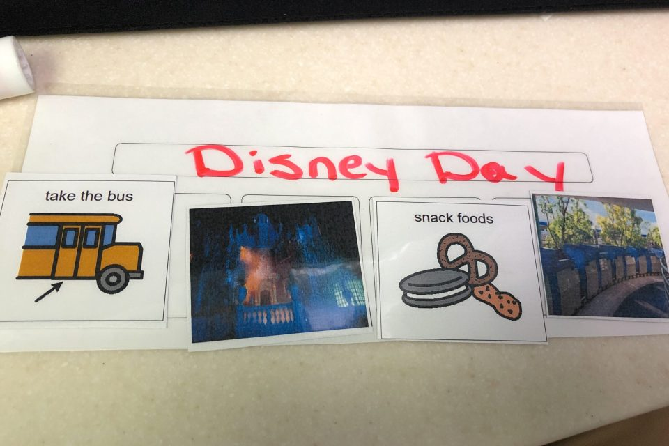 Disney Schedule, visual schedule
