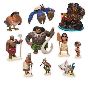Disney Moana Action Figures (10-Piece Set)