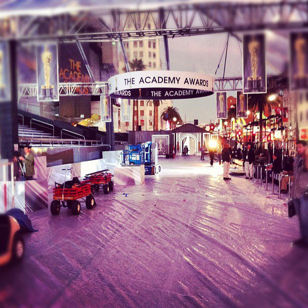 2012 Academy Awards Preparation Hollywood And Highland Center 2