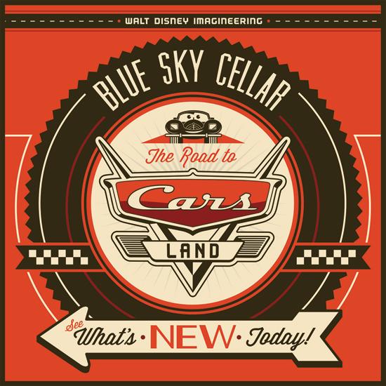 Cars Land Blue Sky Cellar Logo