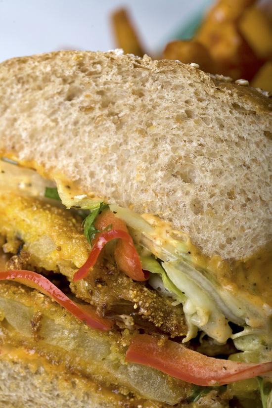 Fried Green Tomato Sandwich Hungry Bear Restaurant Disneyland