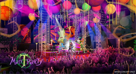Mad T Party Main Stage Concept Art