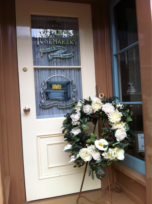 Robert Sherman Flower Tribute Disneyland