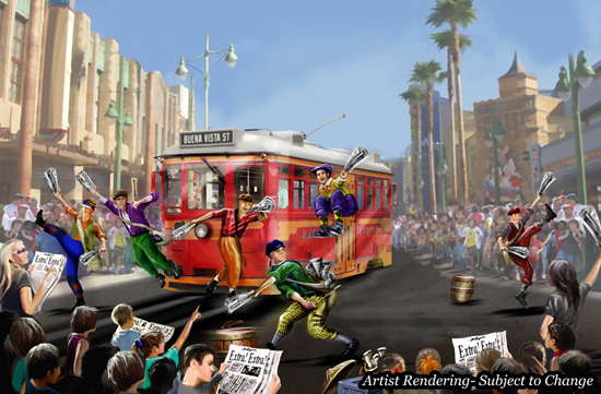 Buena Vista Street Entertainment Concept Art