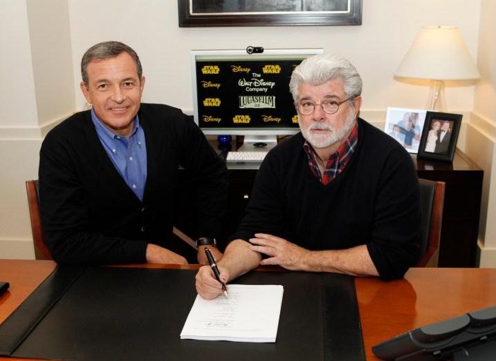 Bob Iger George Lucas Lucasfilm Acquisition
