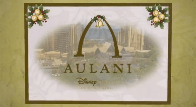 Disney Aulani Christmas Card