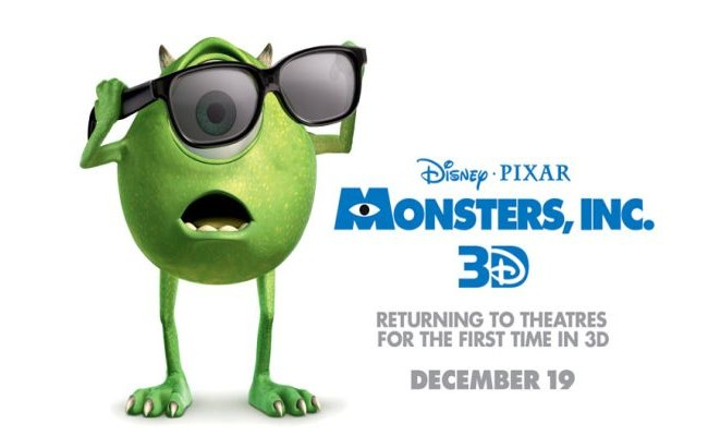 Monsters Inc 3d Poster