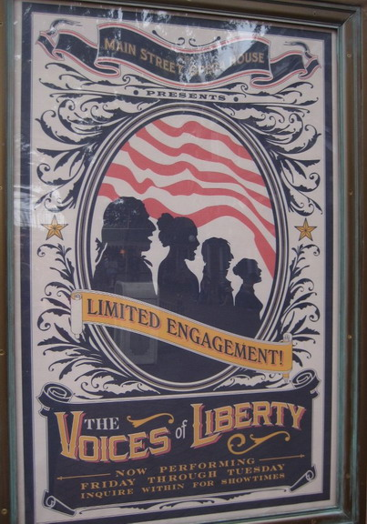 Voices Of Liberty Disneyland Poster