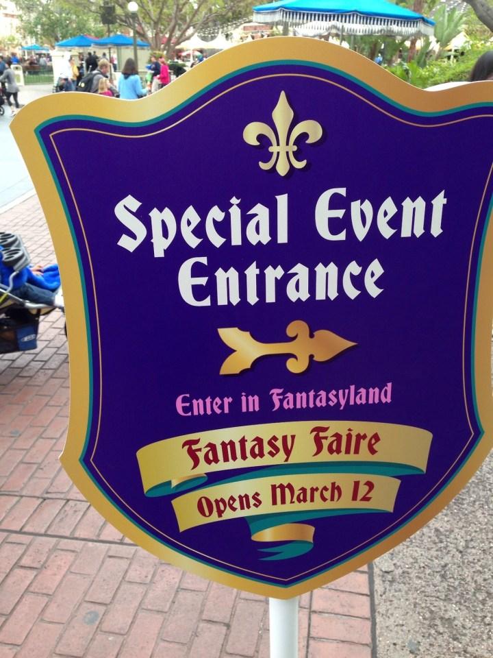 Fantasy Faire Preview Sign