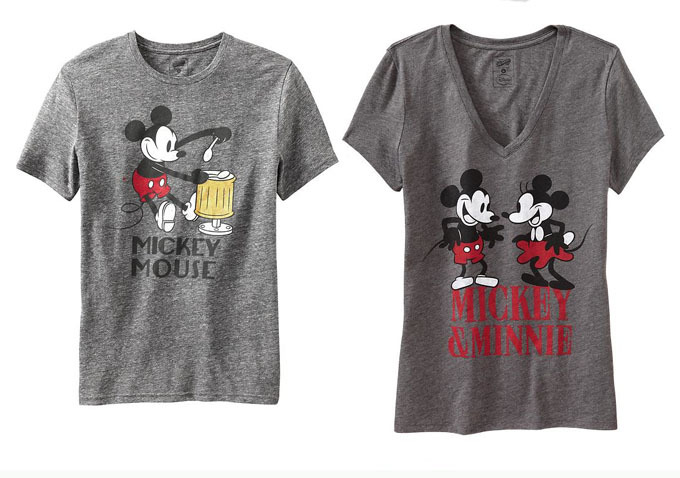 Old Navy Mickey Through The Decades Tshirts
