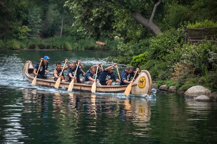 Disneyland Resort Cast Member Canoe Races Rivers Of America