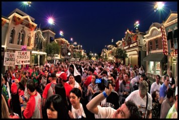 Disneyland Choc Walk Fisheye Photo