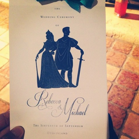 Sianez Disney Fairy Tale Wedding Disneyland Program