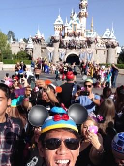 Disneyland Disney Side Social Media All Stars World Premiere Event Selfie Jordan Poblete Disneyexaminer Sleeping Beauty Winter Castle