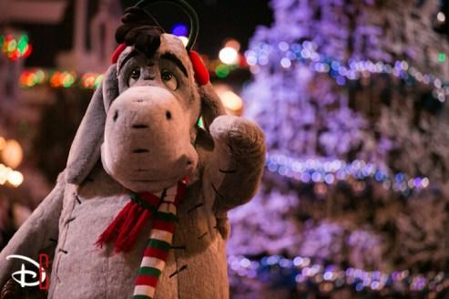 Disneyland Resort Holidays Press Event 2013 A Christmas Fantasy Parade Eeyore