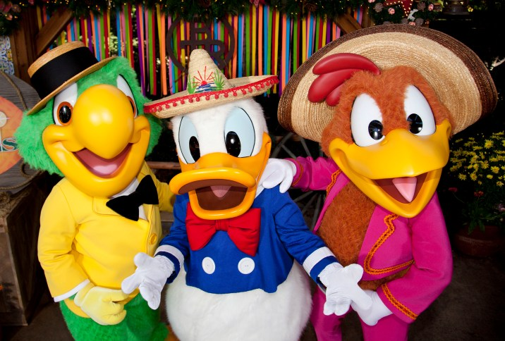 Disneyland Resort Holidays Press Event 2013 Viva Navidad Three Caballeros Donald Duck Disney California Adventure