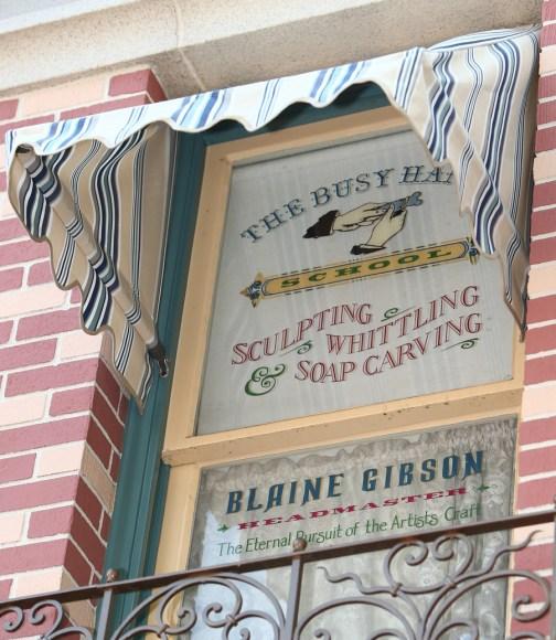 Imagineer Blaine Gibson Disneyland Main Street Usa Window