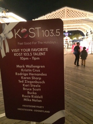 Kost 1035 Fm Disney California Adventure Holiday Kickoff Private Party 2013 Talent For Meet And Greet Paradise Pier