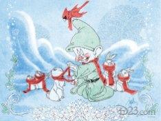 Disney D23 23 Days Of Christmas Art 2013 John Quinn