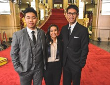 2014 Disneyexaminer Oscars Academy Awards Coverage Team Jordan Poblete Rachel Cardenas Nieman Gatus