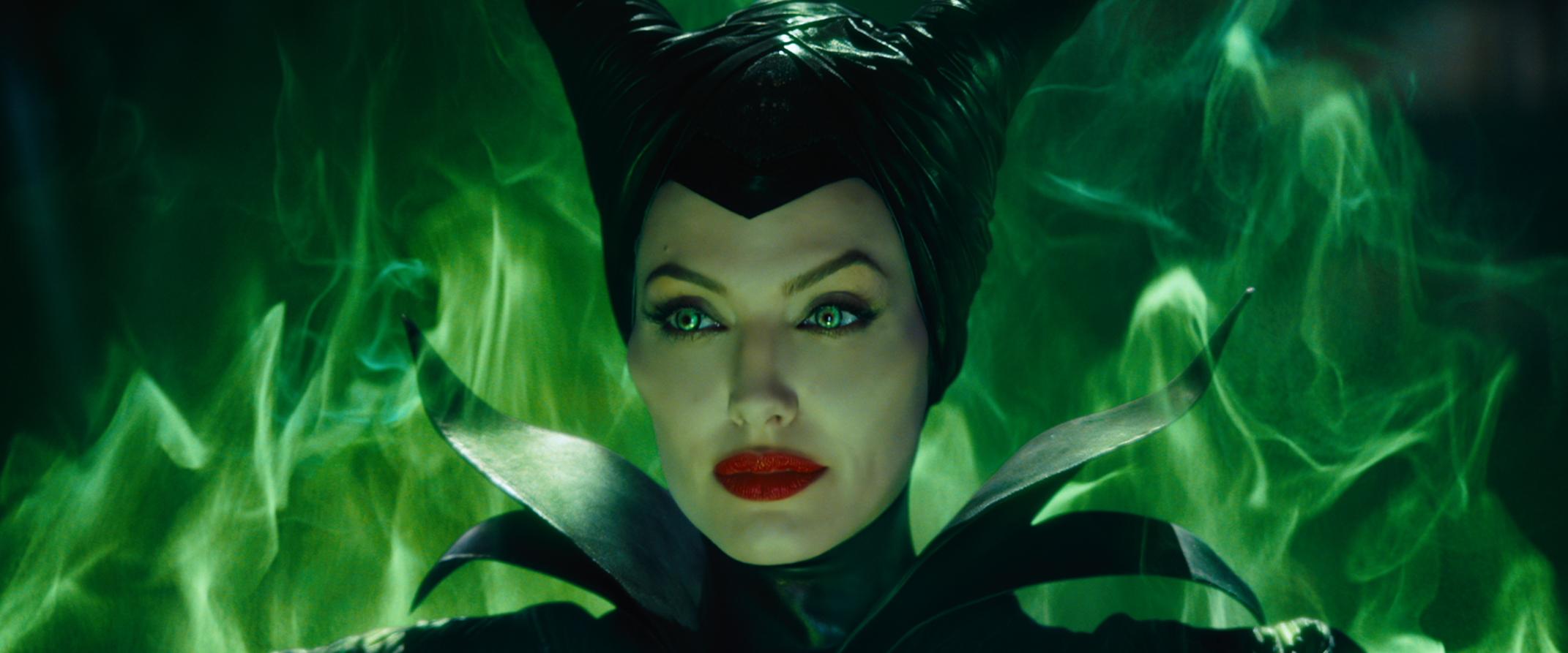 Disney Maleficent Evil Queen Green Flame Angelina Jolie