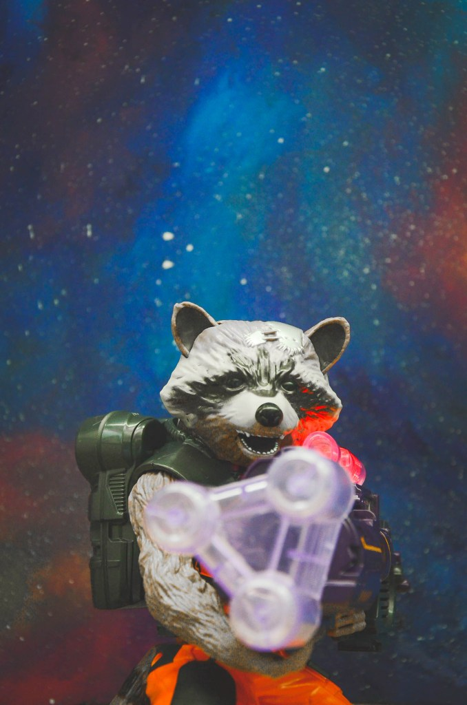 Disney Marvel Guardians Of The Galaxy Hasbro Toys Disneyexaminer Mini Figurine Rocket Raccoon With Gun Blaster