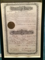 Walt Disney Family Museum Presidio San Francisco Marriage Certificate