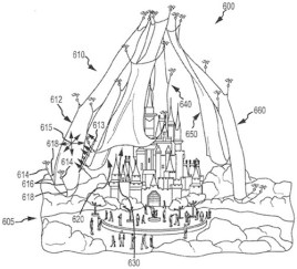 Disney Parks Drones Patents Concept Art Floating Projection Screen
