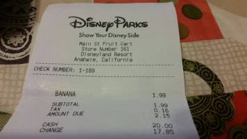 How To Survive At Disneyland On 20 Dollars Bannana