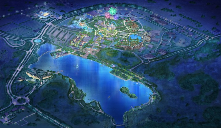 Shanghai Disney Resort Birdseye View Concept Art