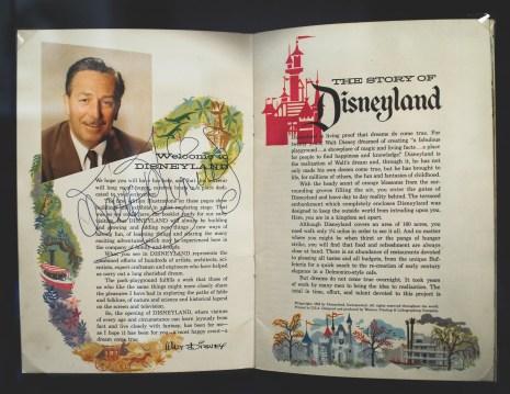 Van Eaton Galleries Disneyland Vintage Auction Walt Disney Signed Guidebook