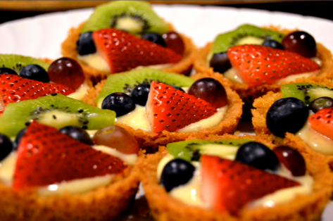 Disney Pixar Inside Out Mini Eggnog Fruit Tart Recipe