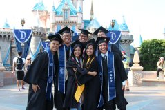 DisneyExaminer Disneyland Graduation Photo Shoot Castle