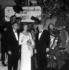 Julie Andrews and executives from Technicolor.
