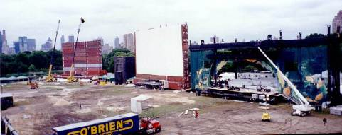 Wide screens for the film.