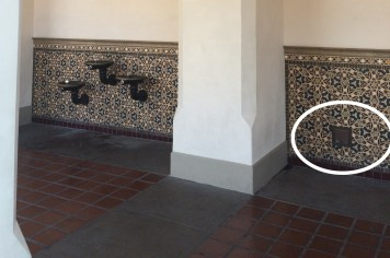 Outlet near the water fountains