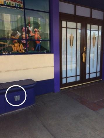 Outlet in front of Disney Junior