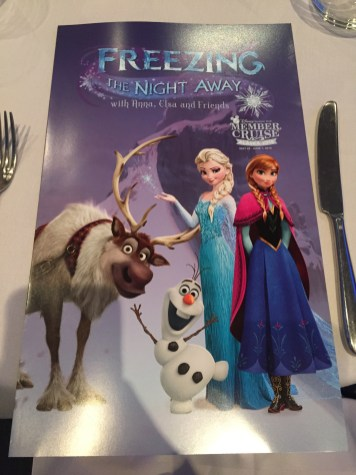 Whats Really On A Disney Cruise Disneyexaminer Frozen Menu