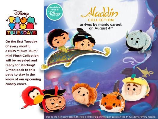 Aladdin Tsum Tsum Collection. via @DisneyTsum