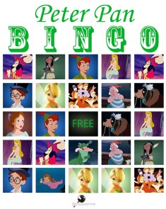 Disneyland Games Waiting Line Peter Pan Bingo 3