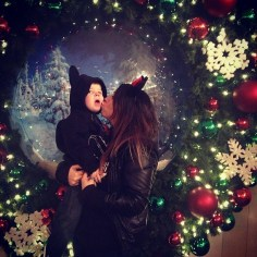 Austin loves Christmas at Disneyland!