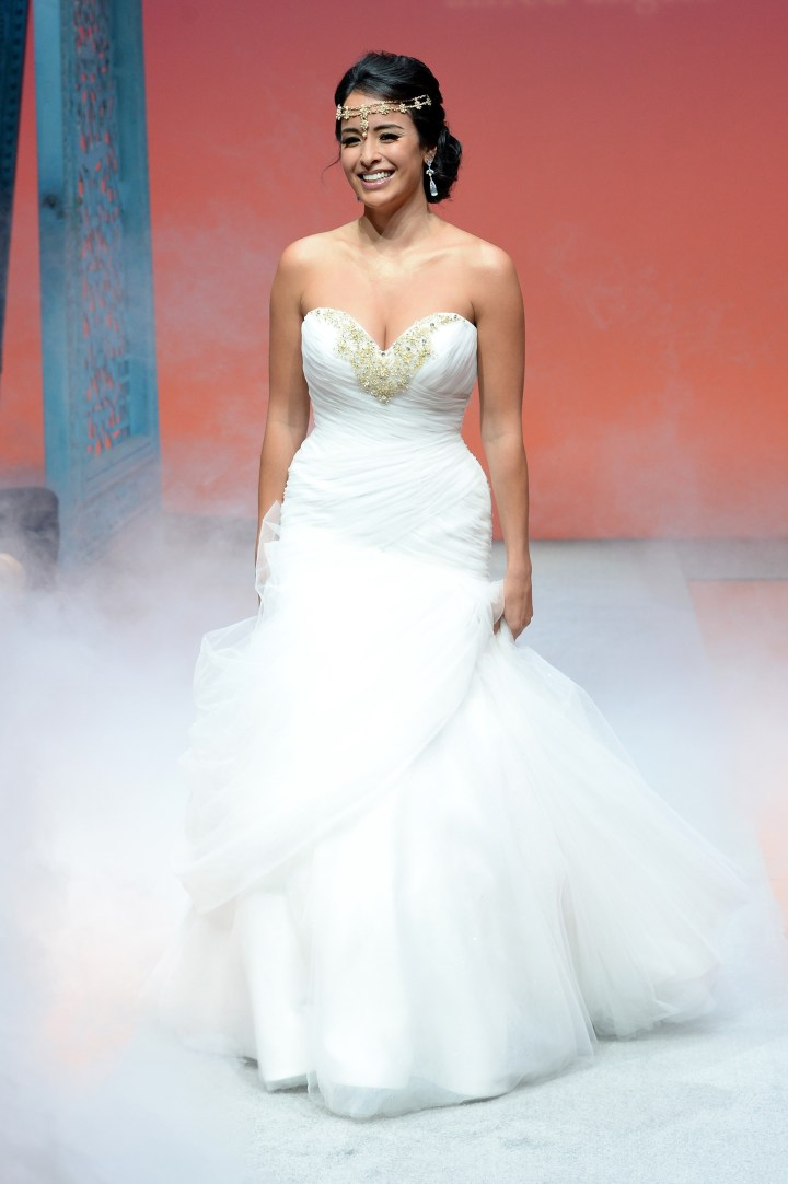Sparkle and shine in these new disney bridal gowns for Designer disney wedding dresses