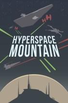 Disneyland Hyperspace Mountain Minimalist Poster Disneyexaminer Store
