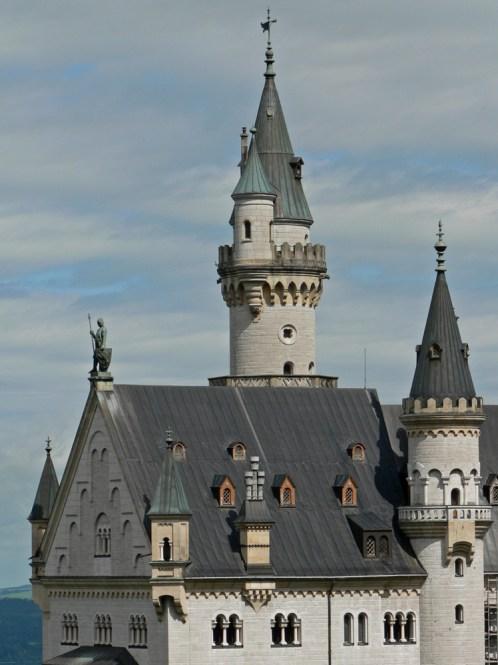 Details of the Neuschwanstein Castle