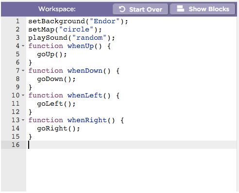 Star Wars Hour Of Code Script | DisneyExaminer