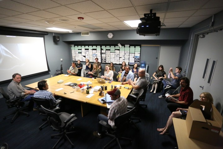 Zootopia leadership meets in a story room. Photo courtesy of Disney.