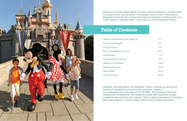 Disneyland_Guide_For_Guests_With_Cognitive_Disabilities_Table_of_Contents