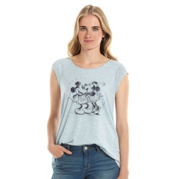 Disney Minnie Rocks Dots Lauren Conrad Graphic Tee Blue Front