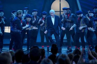 """Even at 90, Dick Van Dyke shows he can still dance while on stage at the Dolby Theater for the ABC Television Special, """"The Wonderful World of Disney: Disneyland 60"""" that will air February 21st at 8 p.m. (c) OC Register"""